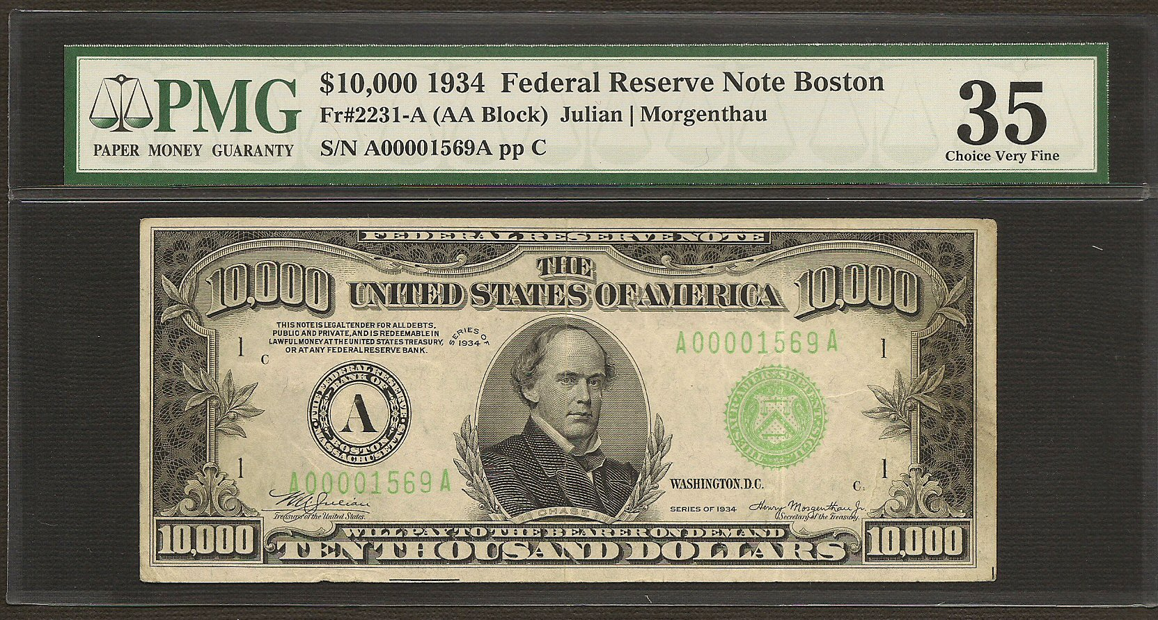 You Can Buy This Real $10,000 Dollar Bill… For Only $89,000