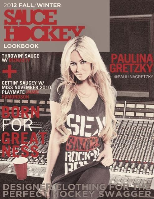 Paulina Gretzky as featured on the cover of Sauce Look Book