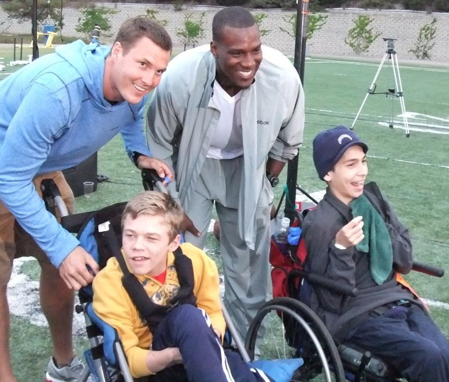 "Philip Rivers and Antonio Gates at the 2012 Huntington's Disease ""Shoot to Cure"" Event"