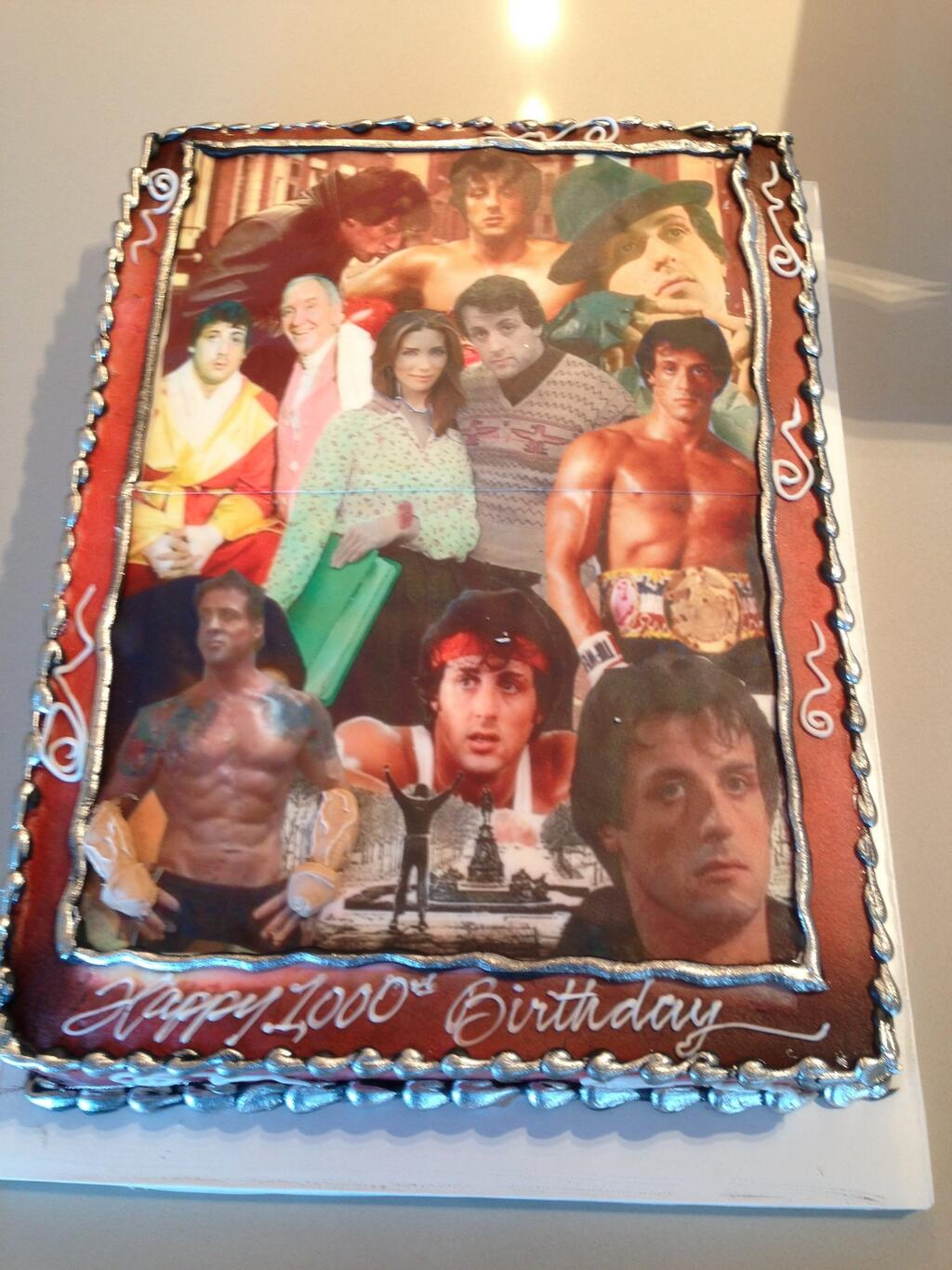 sly stallone birthday cake