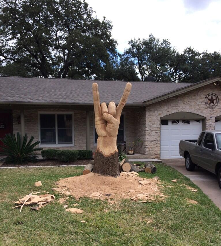 hook-em-horns-tree-art