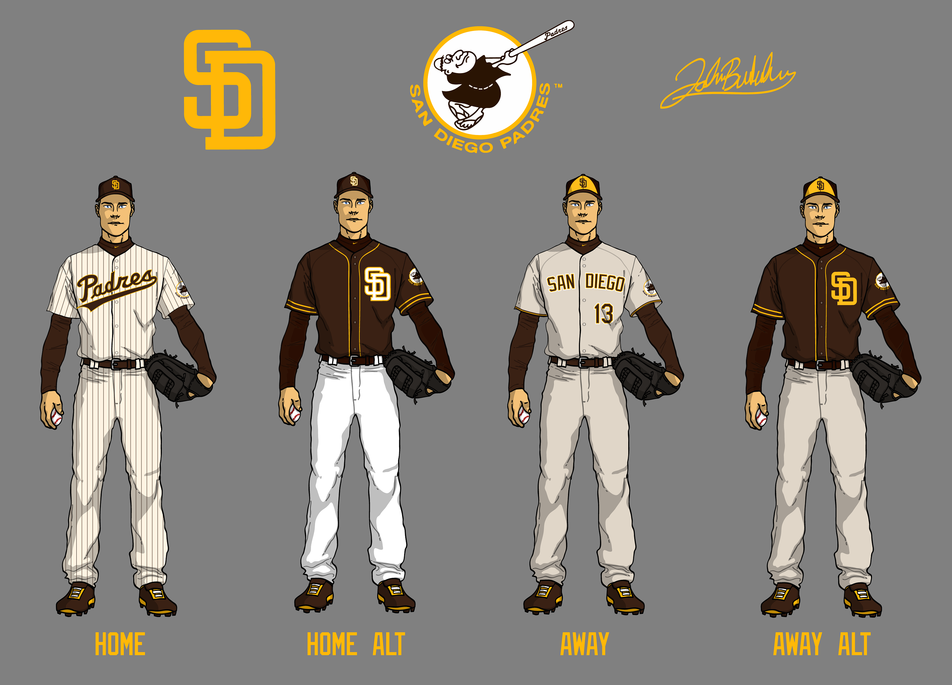 A Beautiful Brown Padres Uniform Redesign Lobshots